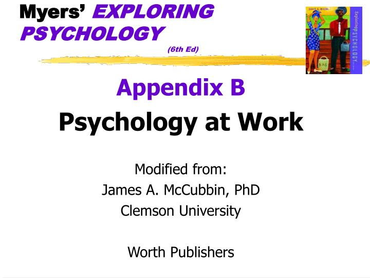 myers exploring psychology 6th ed n.