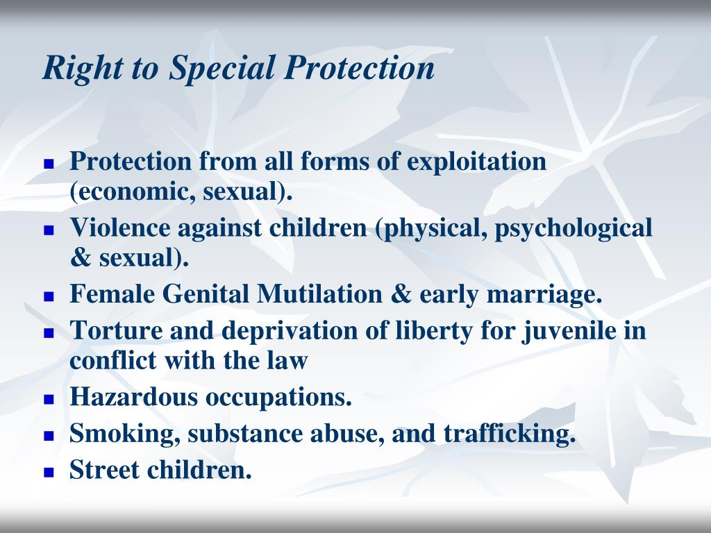 Right to Special Protection