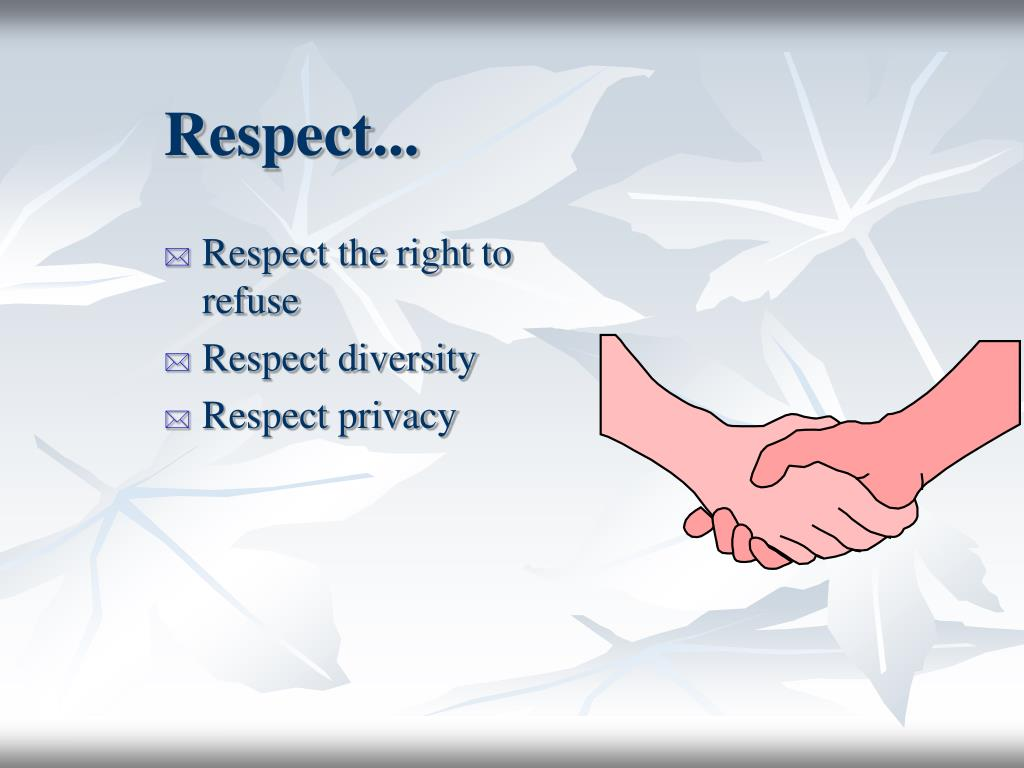 Respect...