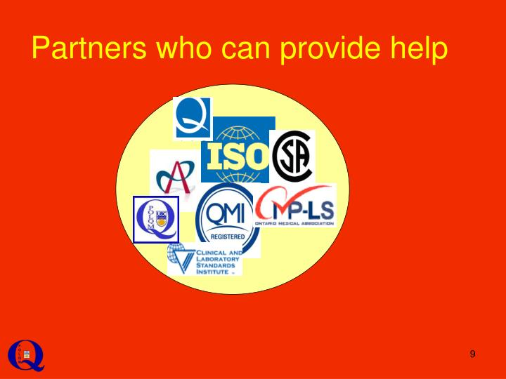 Partners who can provide help