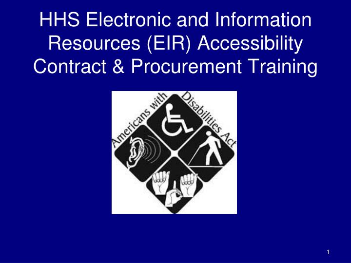 hhs electronic and information resources eir accessibility contract procurement training n.