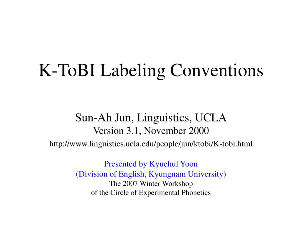 k tobi labeling conventions l.