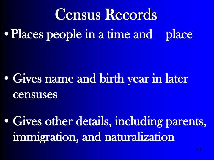 Census Records