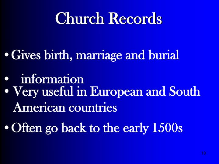 Church Records