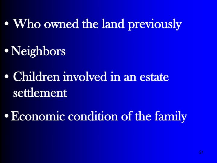 Who owned the land previously
