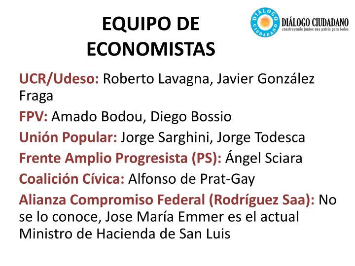 Equipo de economistas