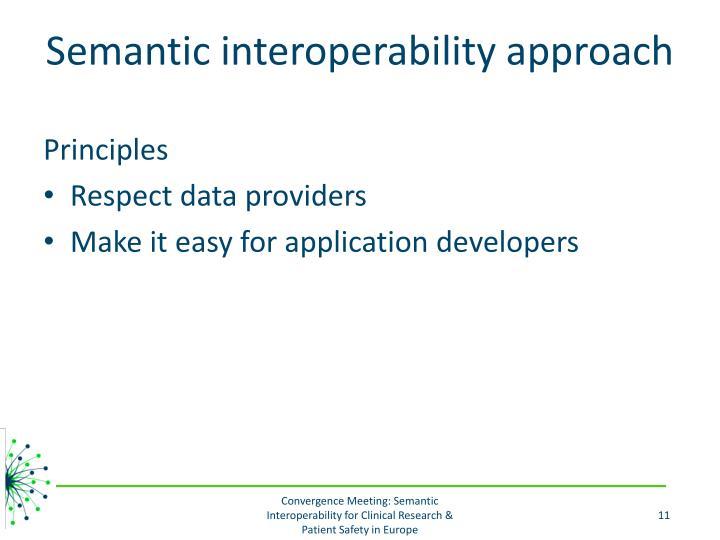 Semantic interoperability approach