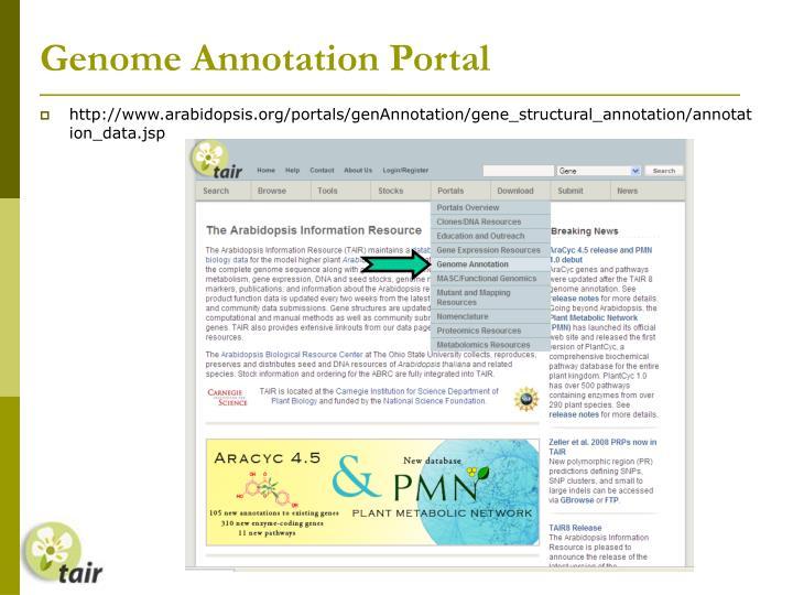 Genome Annotation Portal