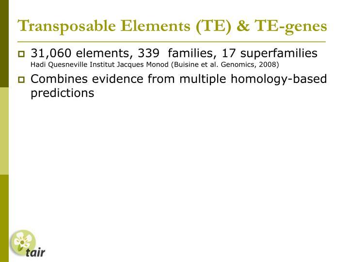 Transposable Elements (TE) & TE-genes