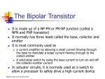 the bipolar transistor