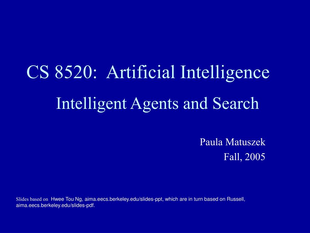 cs 8520 artificial intelligence