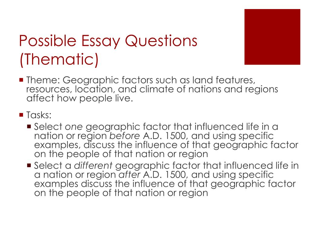 sample college essay questions