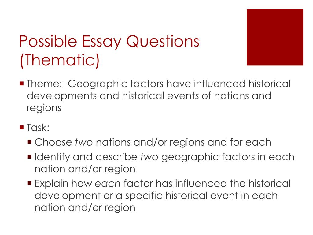 possible essay questions 1984
