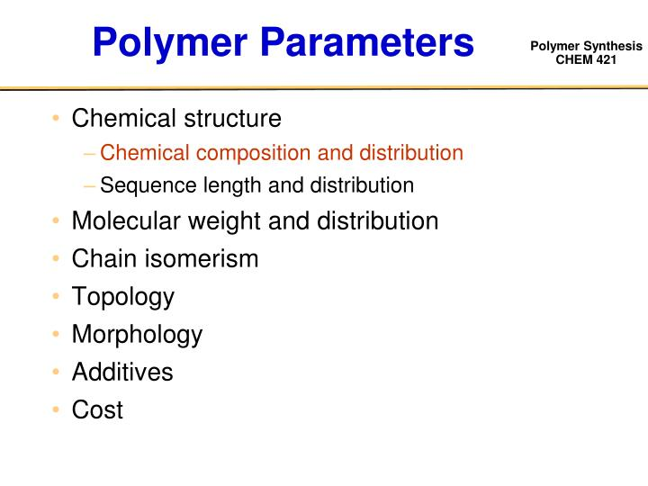 Polymer Parameters