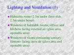 lighting and ventilation 1