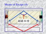 means of escape 4