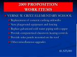 2009 proposition work items11