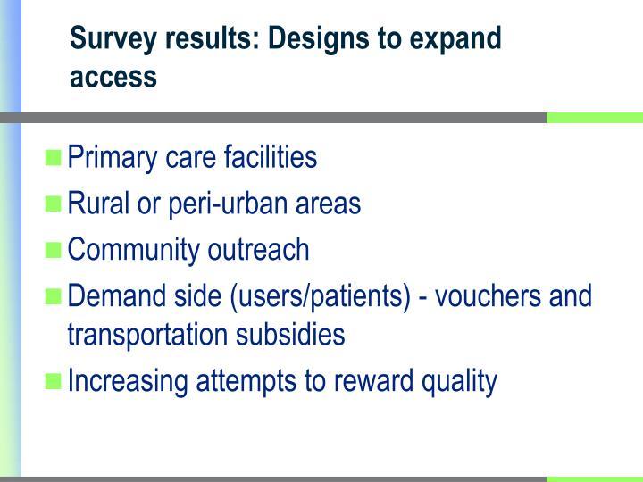 Primary care facilities