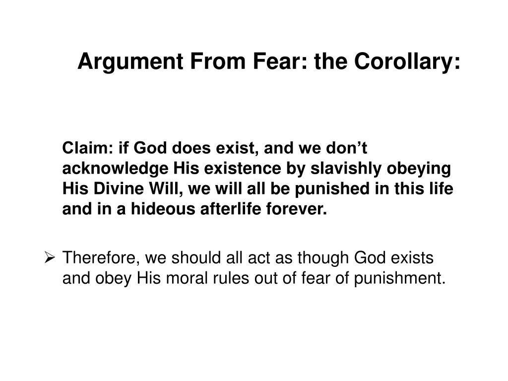Argument From Fear: the