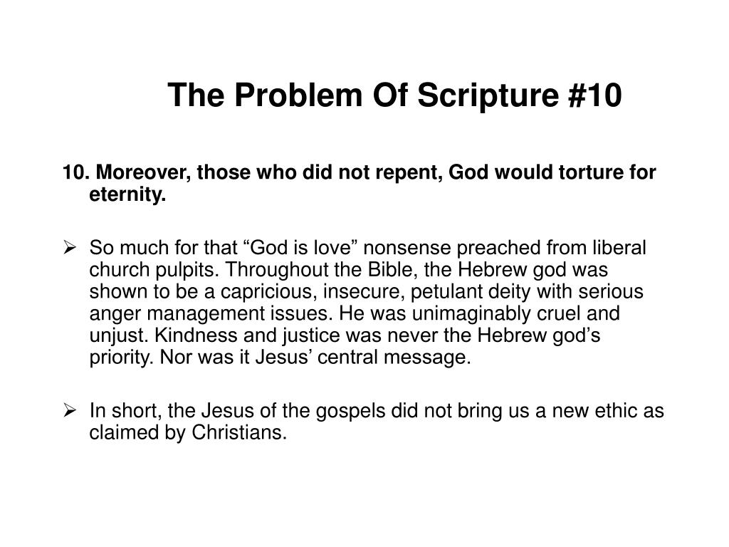 The Problem Of Scripture #10