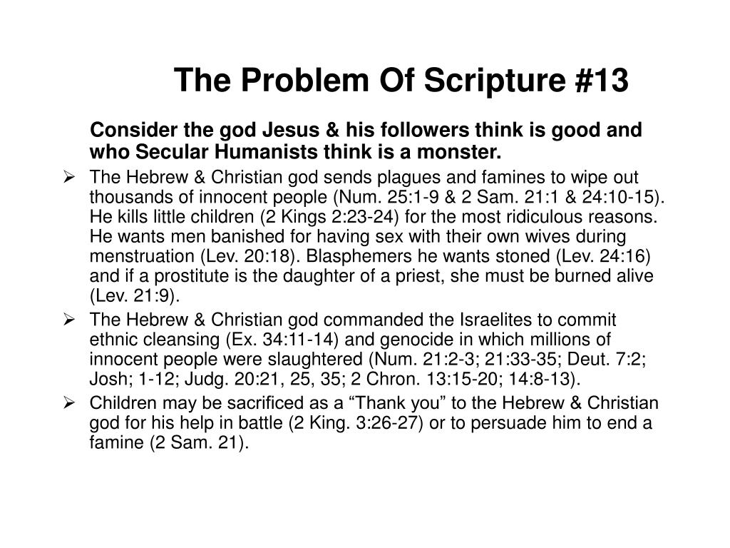 The Problem Of Scripture #13