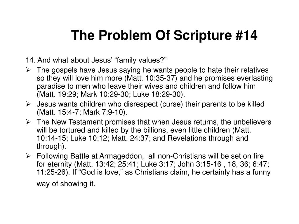The Problem Of Scripture #14