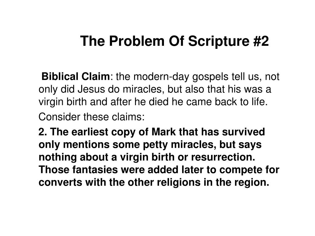 The Problem Of Scripture #2