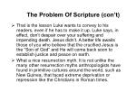 the problem of scripture con t91