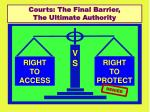courts the final barrier the ultimate authority