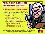 you can t legislate emotional abuse