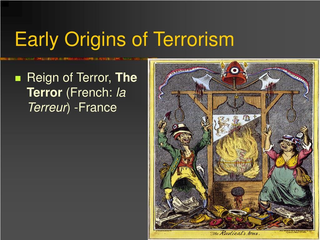 Early Origins of Terrorism
