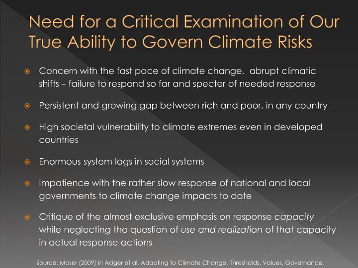Need for a Critical Examination of Our True Ability