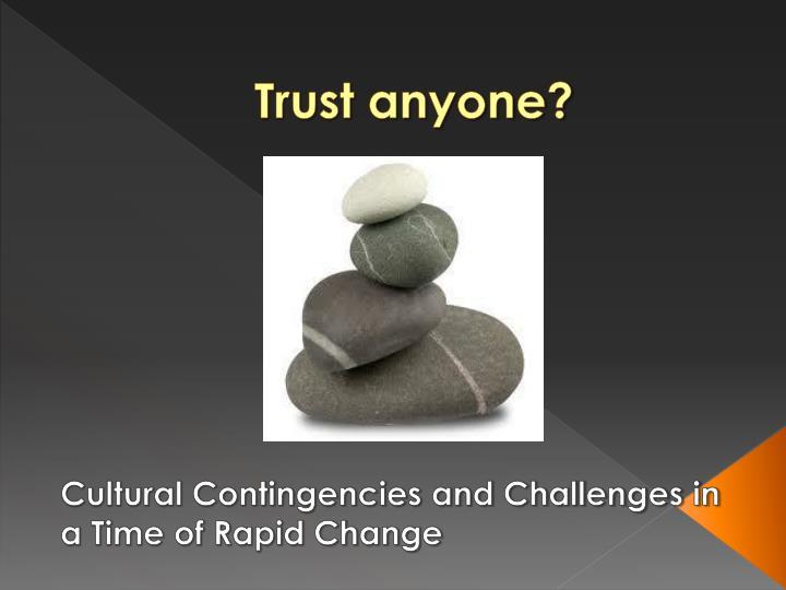 Trust anyone?