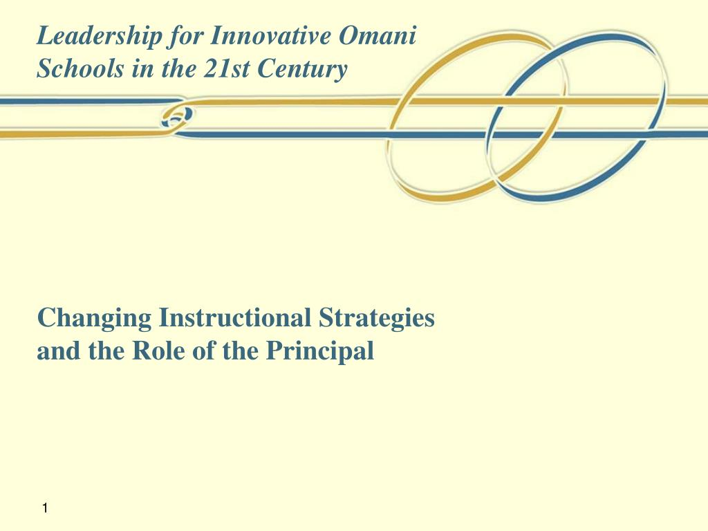 Ppt Changing Instructional Strategies And The Role Of The