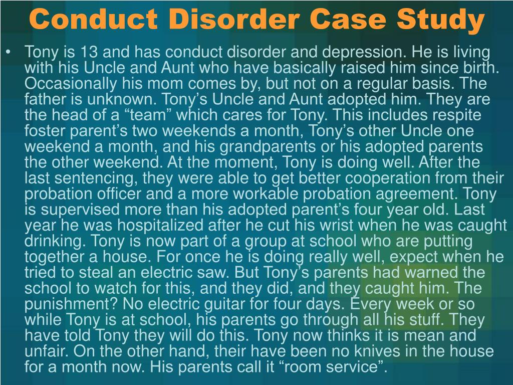 Conduct Disorder Case Study