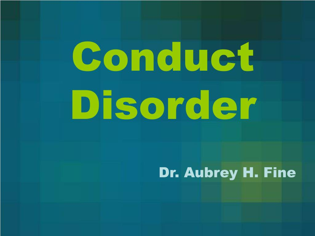 conduct disorder l.
