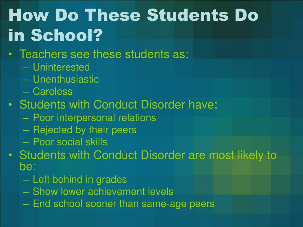 How Do These Students Do in School?