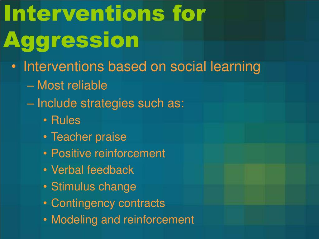 Interventions for Aggression