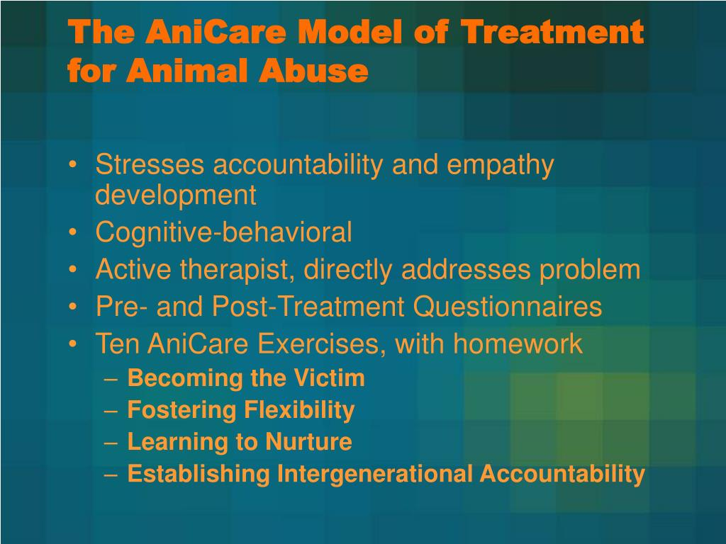 The AniCare Model of Treatment for Animal Abuse