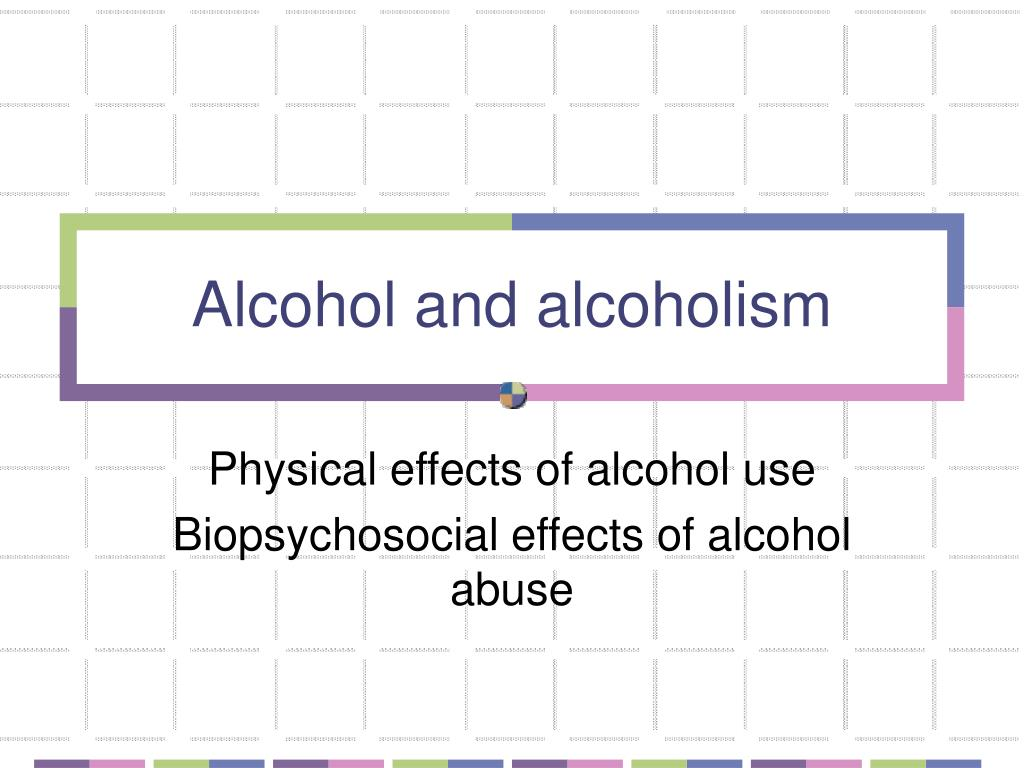 alcohol and alcoholism l.