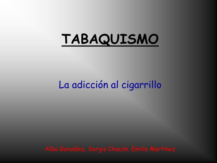 tabaquismo n.