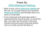 power by ogk motocycle clothing