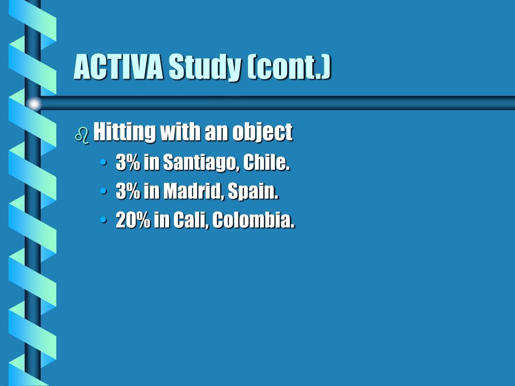 ACTIVA Study (cont.)