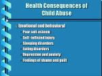 health consequences of child abuse13