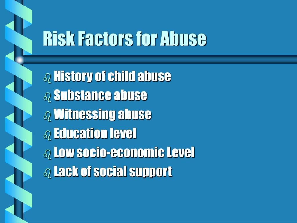 Risk Factors for Abuse