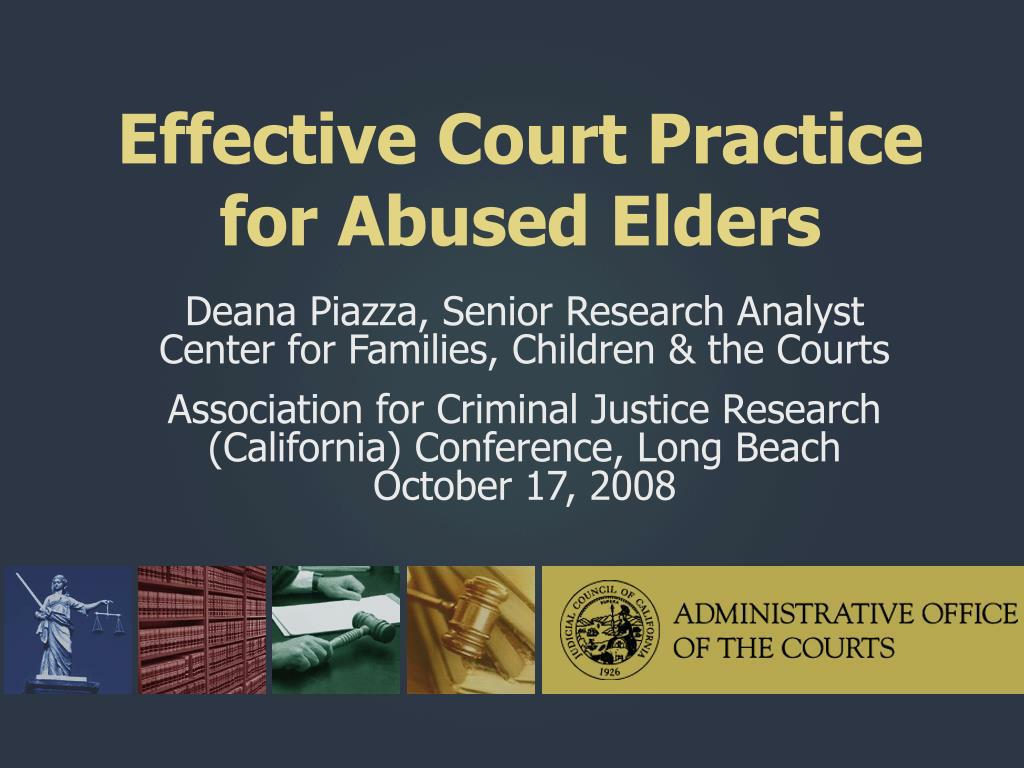effective court practice for abused elders l.