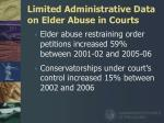 limited administrative data on elder abuse in courts