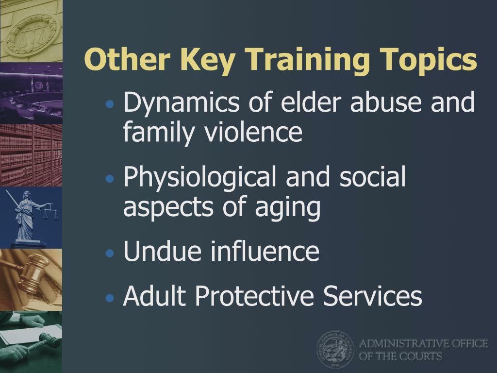 Other Key Training Topics