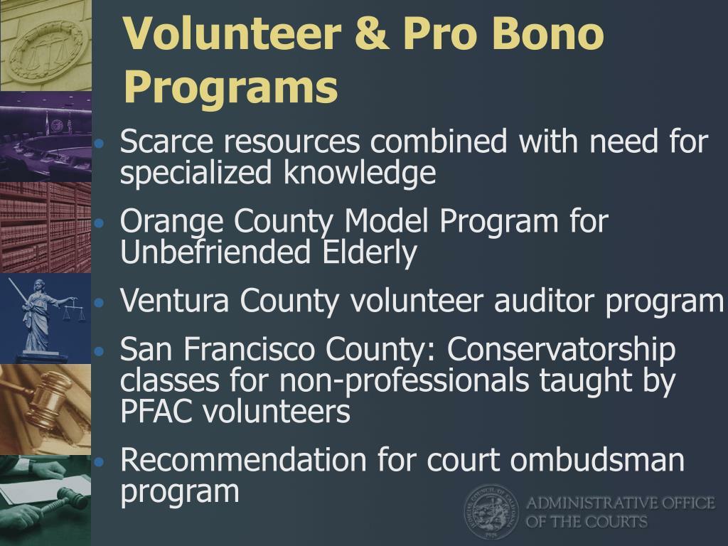 Volunteer & Pro Bono Programs