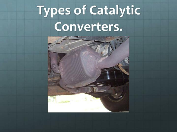 Types of Catalytic Converters.